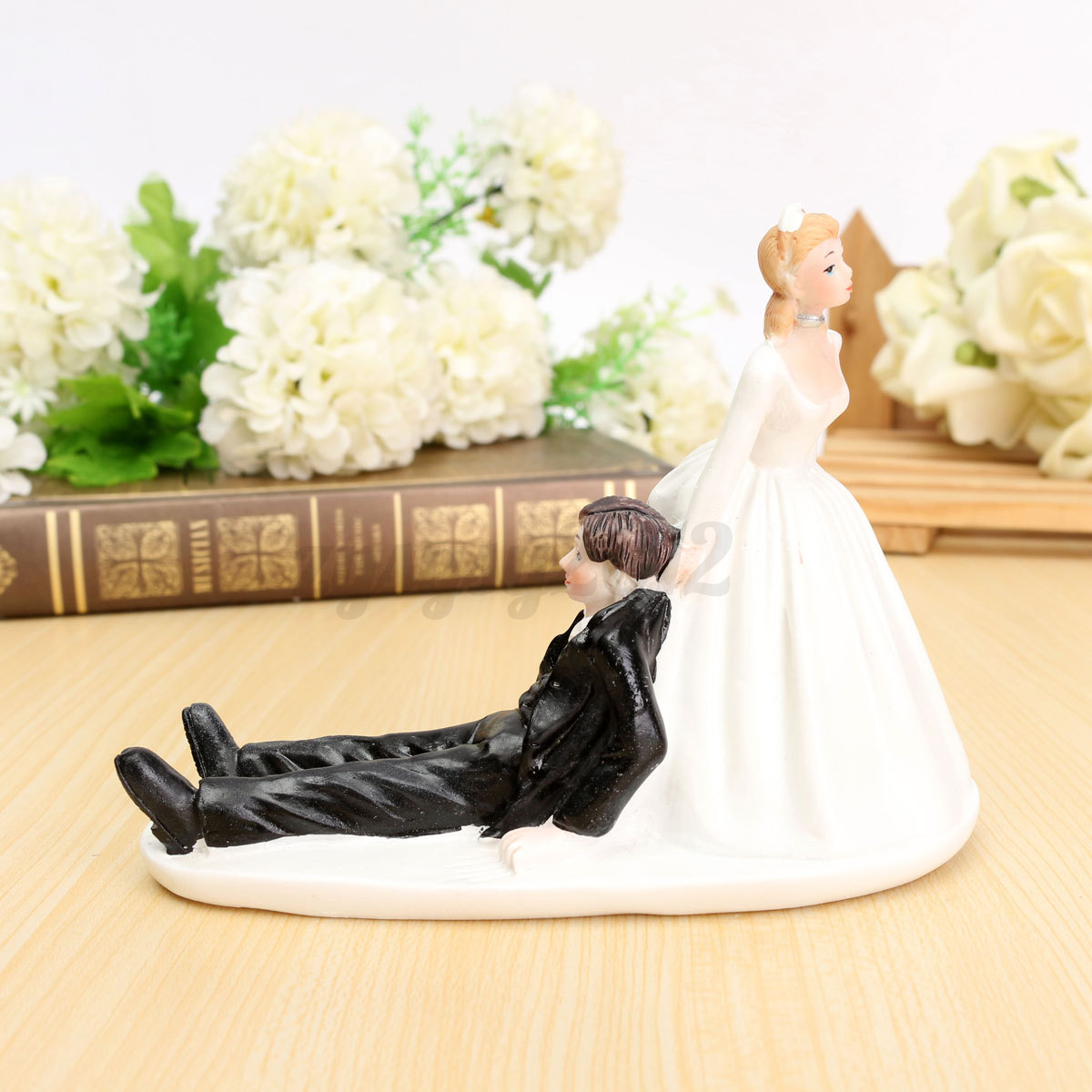 romantic wedding cake toppers figure bride and groom couple bridal decoration ebay. Black Bedroom Furniture Sets. Home Design Ideas