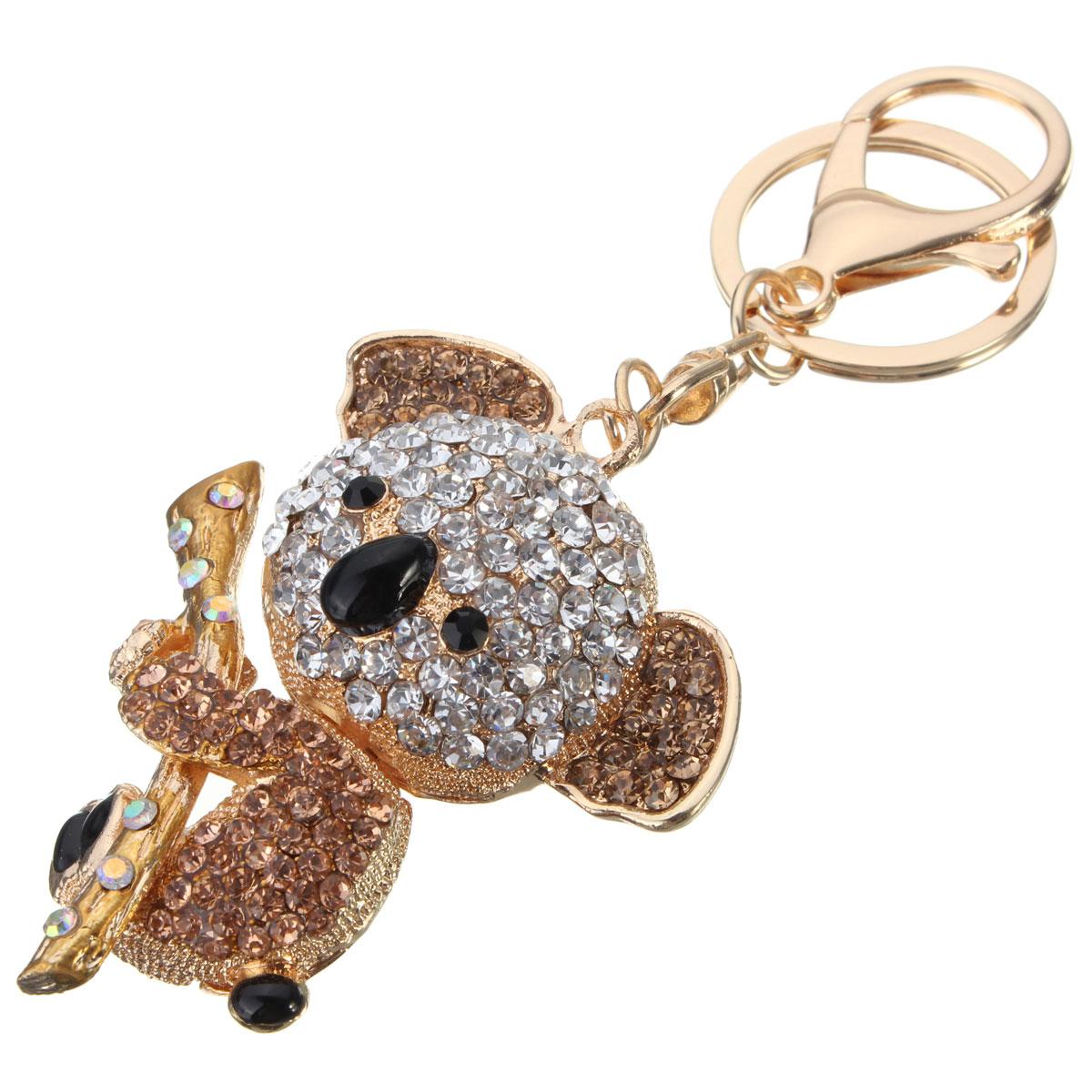 Purse Jewelry: Cute Koala Bear Rhinestone Crystal Pendant Purse Bag Charm