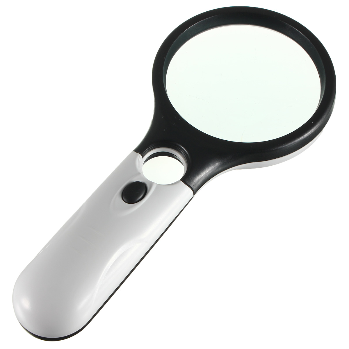 3 led reading magnifying glass light 45x handheld. Black Bedroom Furniture Sets. Home Design Ideas
