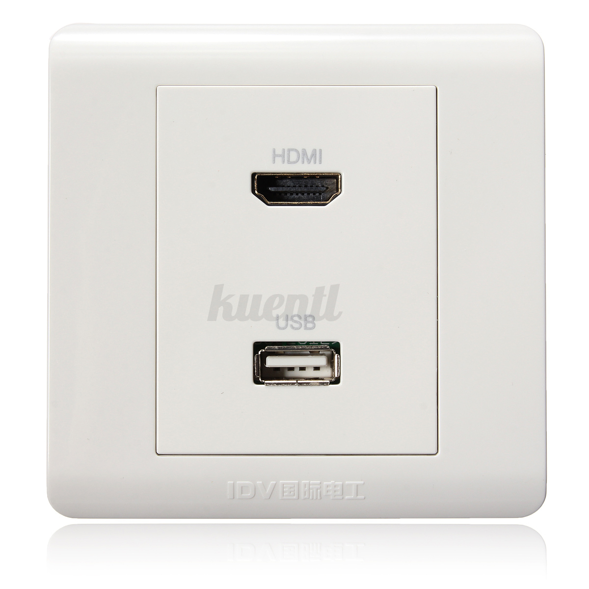 86 type 2port usb hdmi wall plate white wall face plate. Black Bedroom Furniture Sets. Home Design Ideas