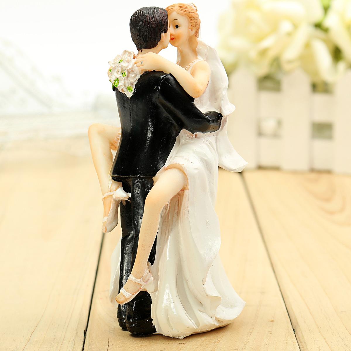 Bride Groom Resin Wedding Cake Topper Couple Figurine Romantic ...
