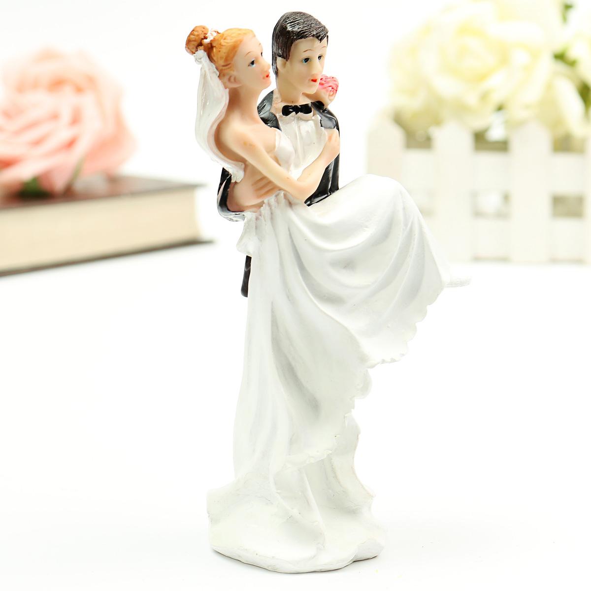 Bride Groom Resin Wedding Cake Topper Couple Figurine