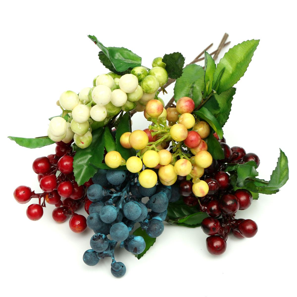 Dekokirschen Berry Kunstblumen Strau Dekoration Kunstobst