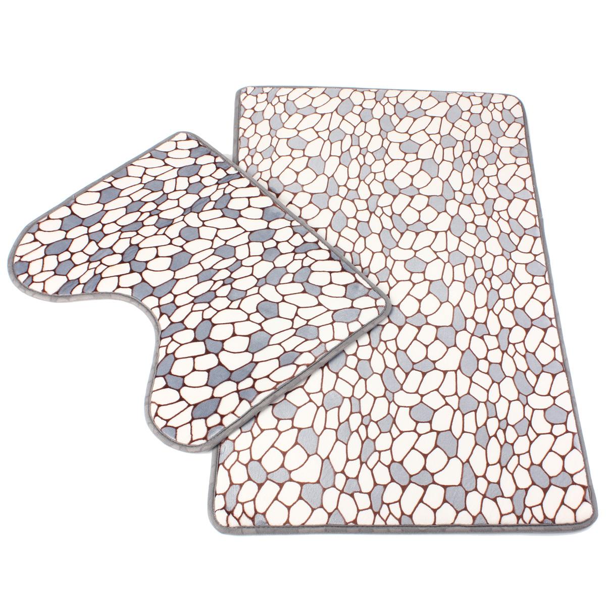 Washable Bathroom Carpet: Bath Mat Sets Carpet Bathroom Toilet Shower Rug Soft