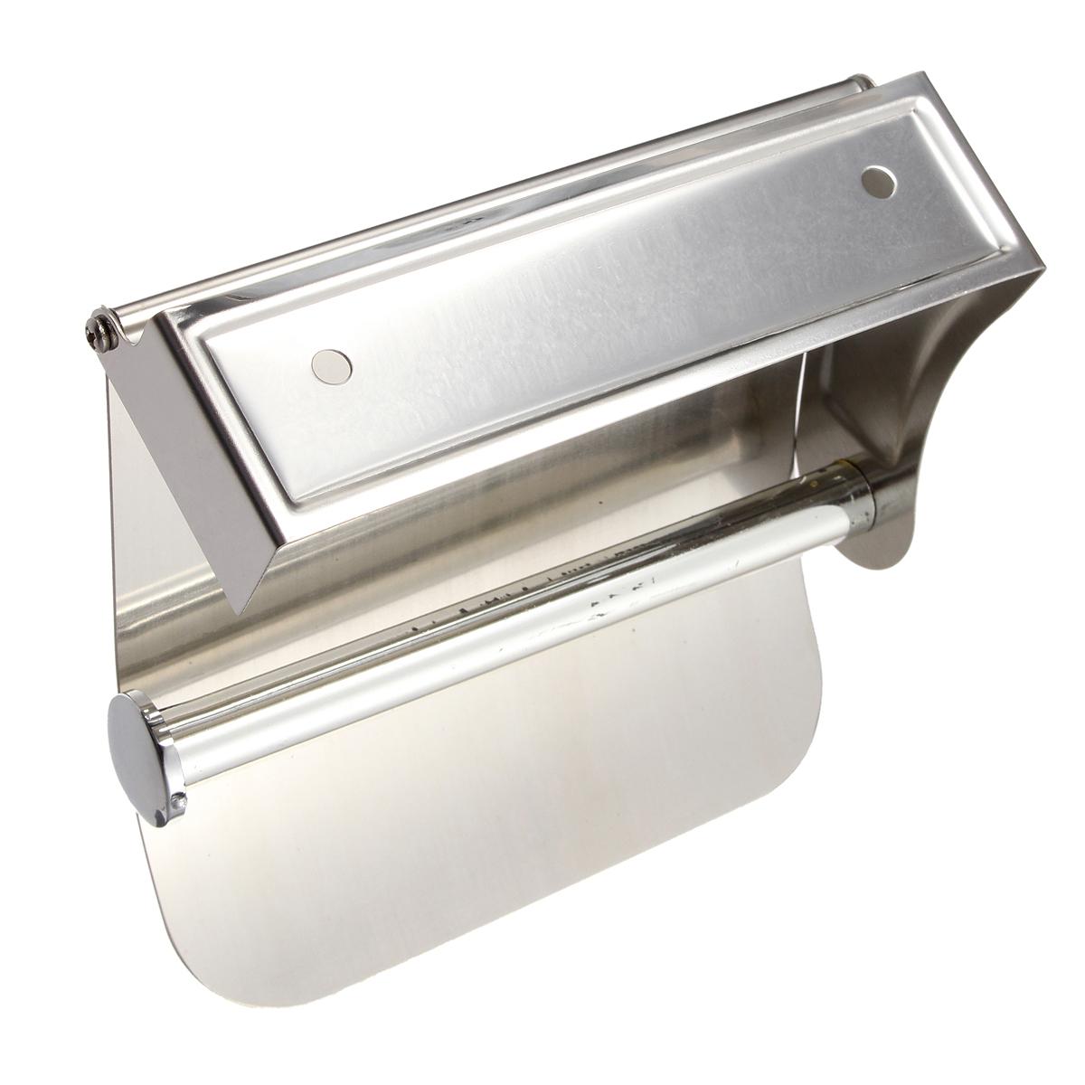 bathroom stainless steel wall mounted toilet paper holder roll tissue rack bath ebay. Black Bedroom Furniture Sets. Home Design Ideas