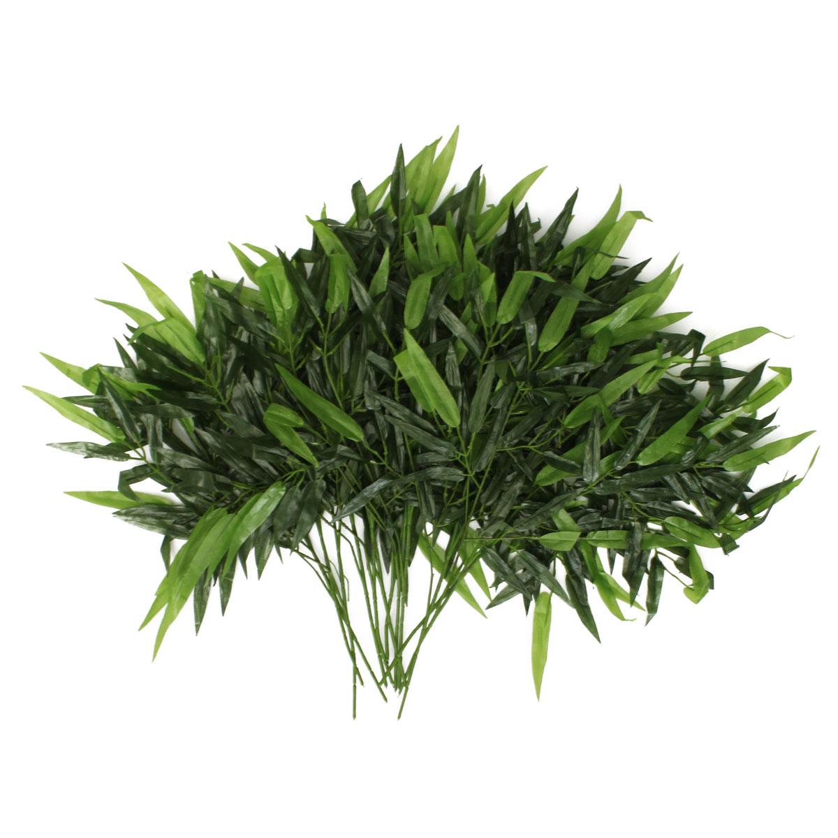 12pcs branches 60 feuilles artificiel bambou plants for Branche bambou artificiel