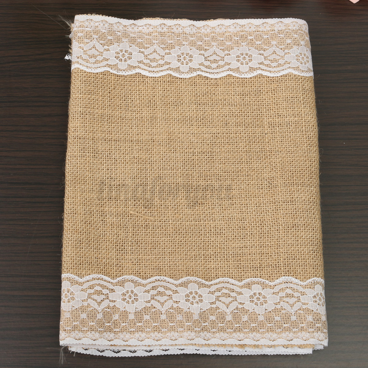 nappe tissu toile de jute dentelle chemin de table no l. Black Bedroom Furniture Sets. Home Design Ideas