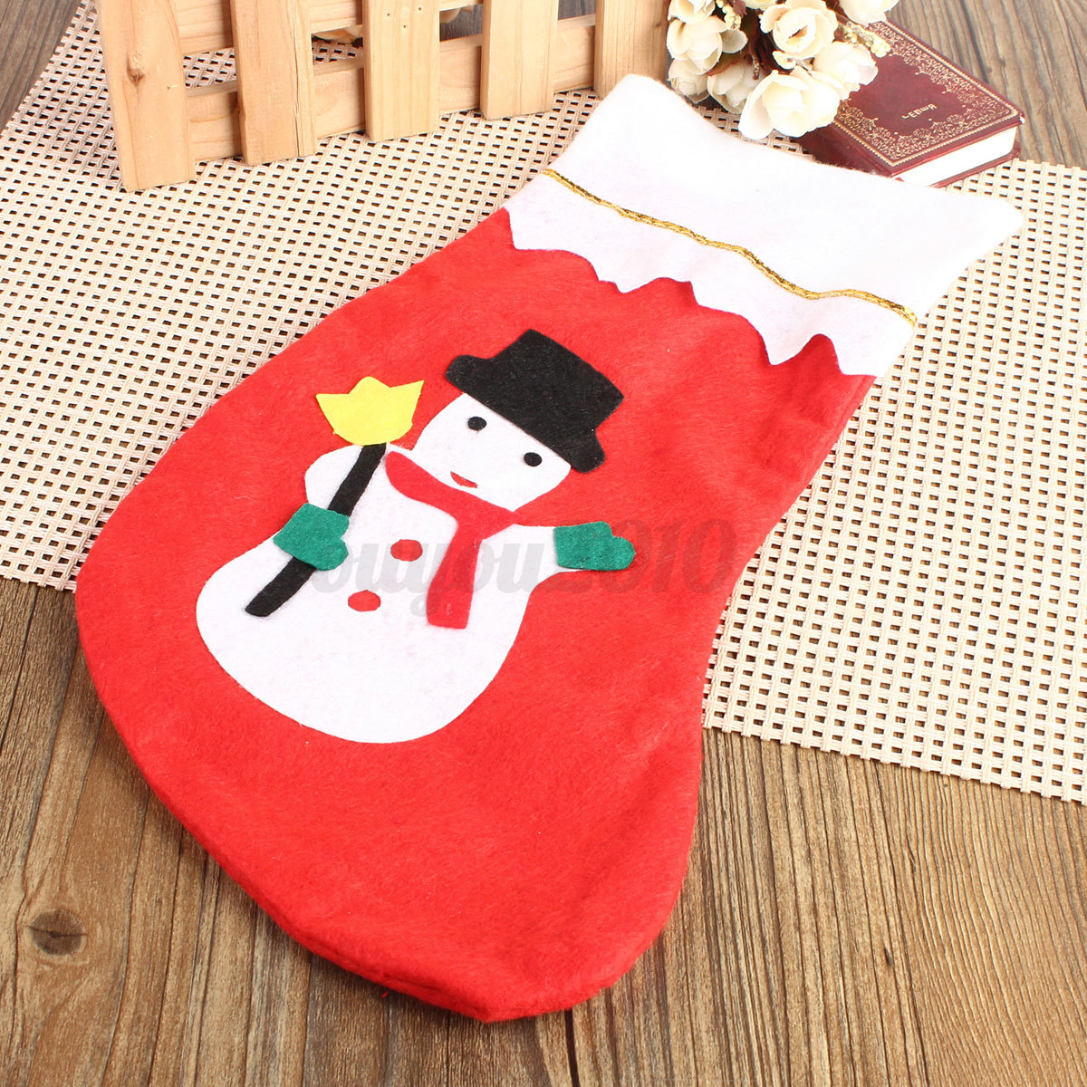 Christmas sock bas chaussette no l d corations sac cadeau sapin d cor f te ebay - Cadeau de noel a vendre ...
