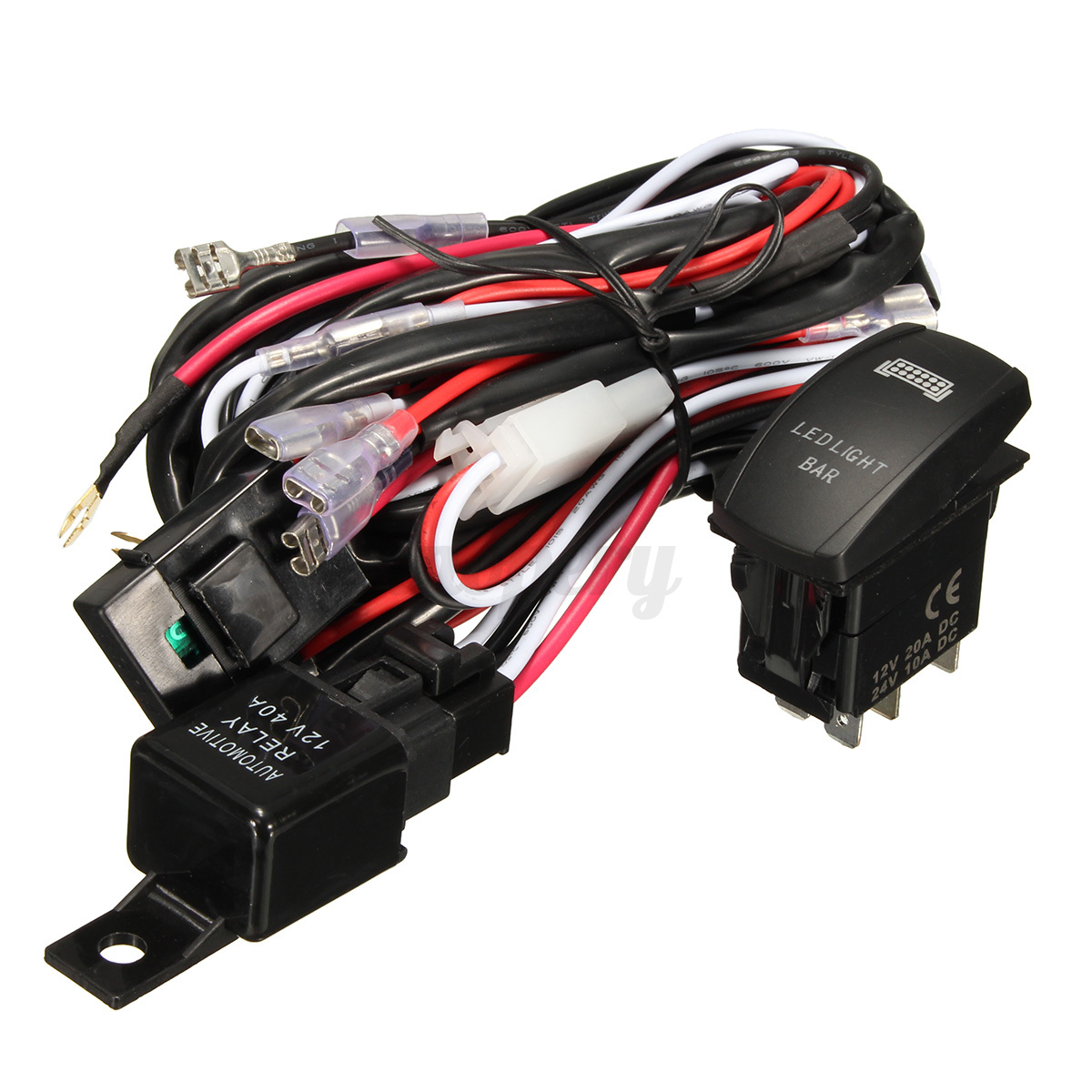 wiring harness cable led light bar laser rocker switch 12v ... polaris rzr led light bar wiring harness #2