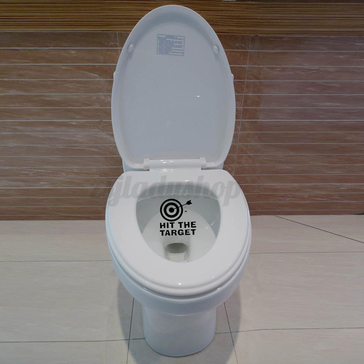 Diy Hit The Target Home Decor Bathroom Toilet Seat Wall Decal Sticker Waterproof Ebay