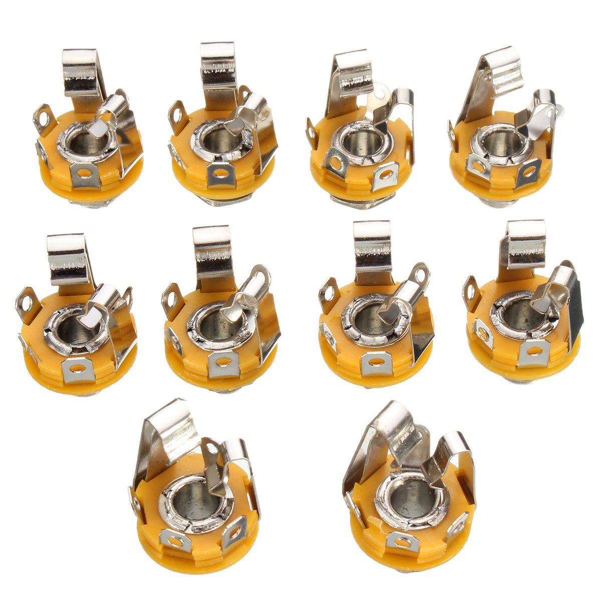 1 4 Female Jack Wiring Explained Diagrams Guitar Input Lot 10pcs 6 35mm Stereo Socket Connector Panel