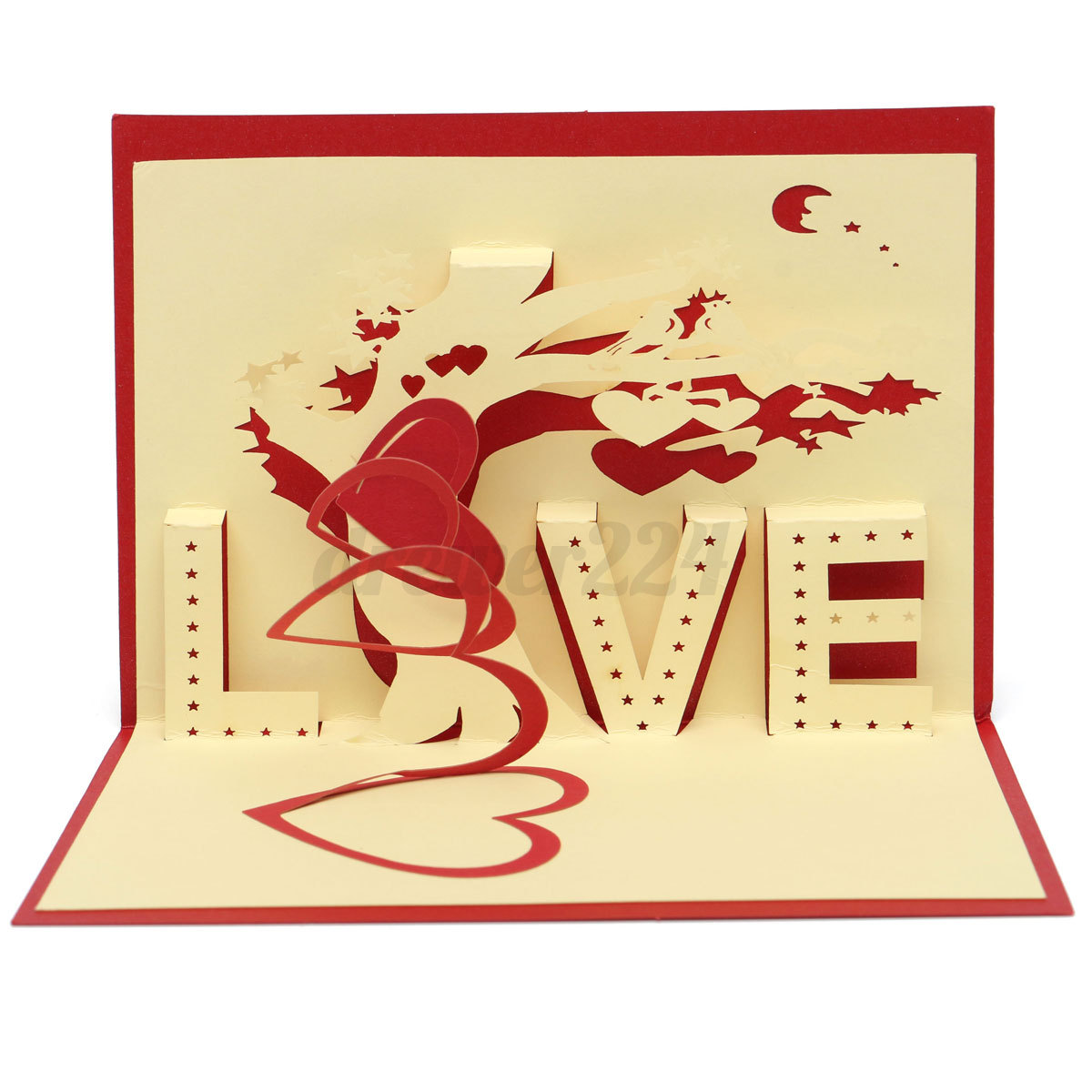 3D Pop Up Greeting Card Happy Birthday Valentine Easter