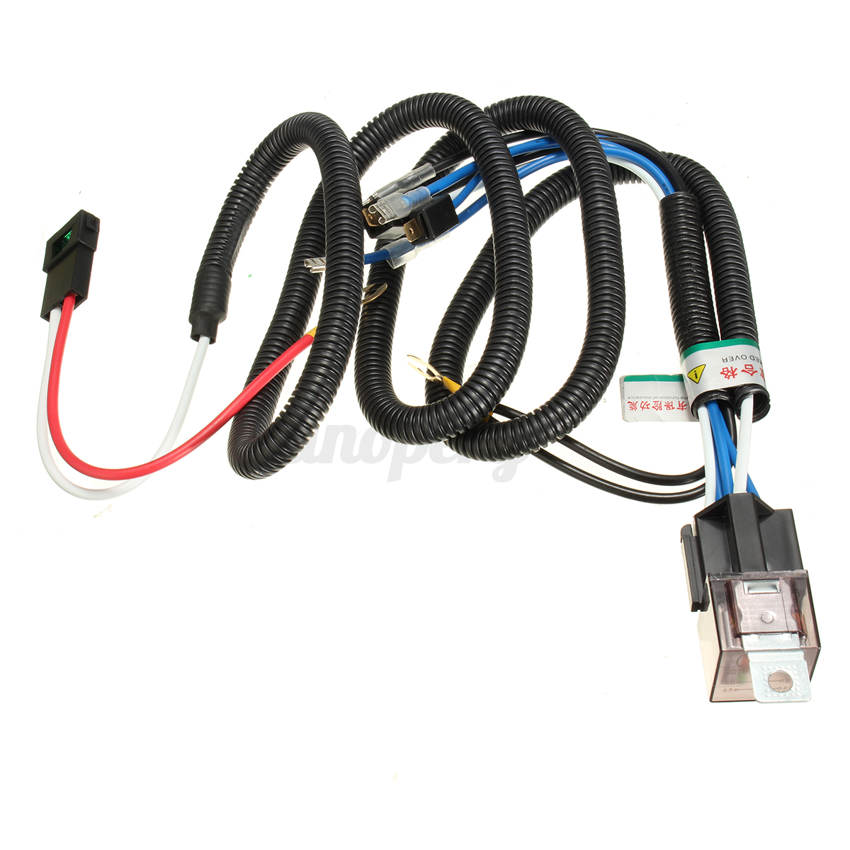 12v electric horn relay wiring harness kit for grille ... 12v wiring harness