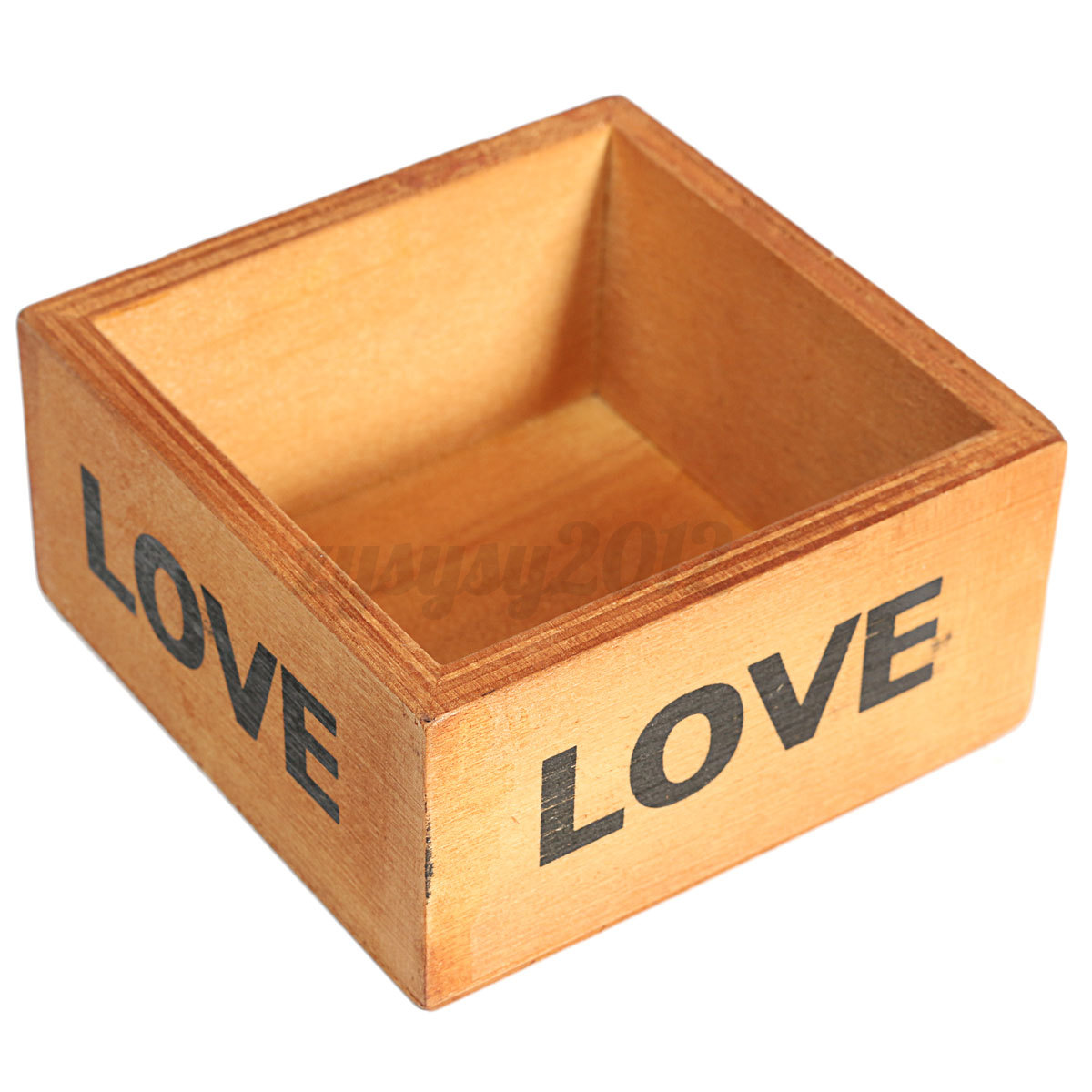 Wooden Desktop Stationery Flower Pot Debris Storage Case