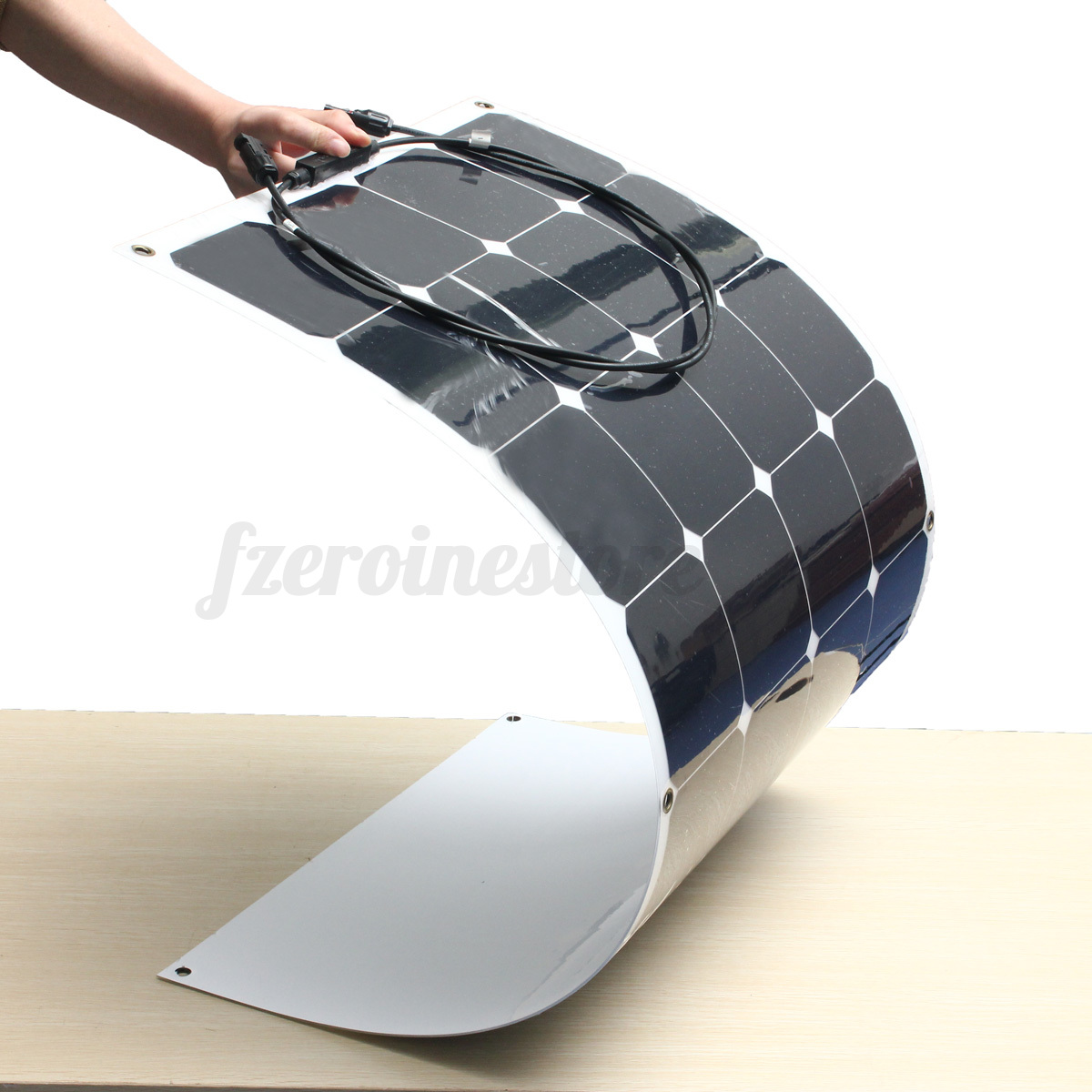 100w 18v Energy Mono Solar Panel Semi Flexible Battery
