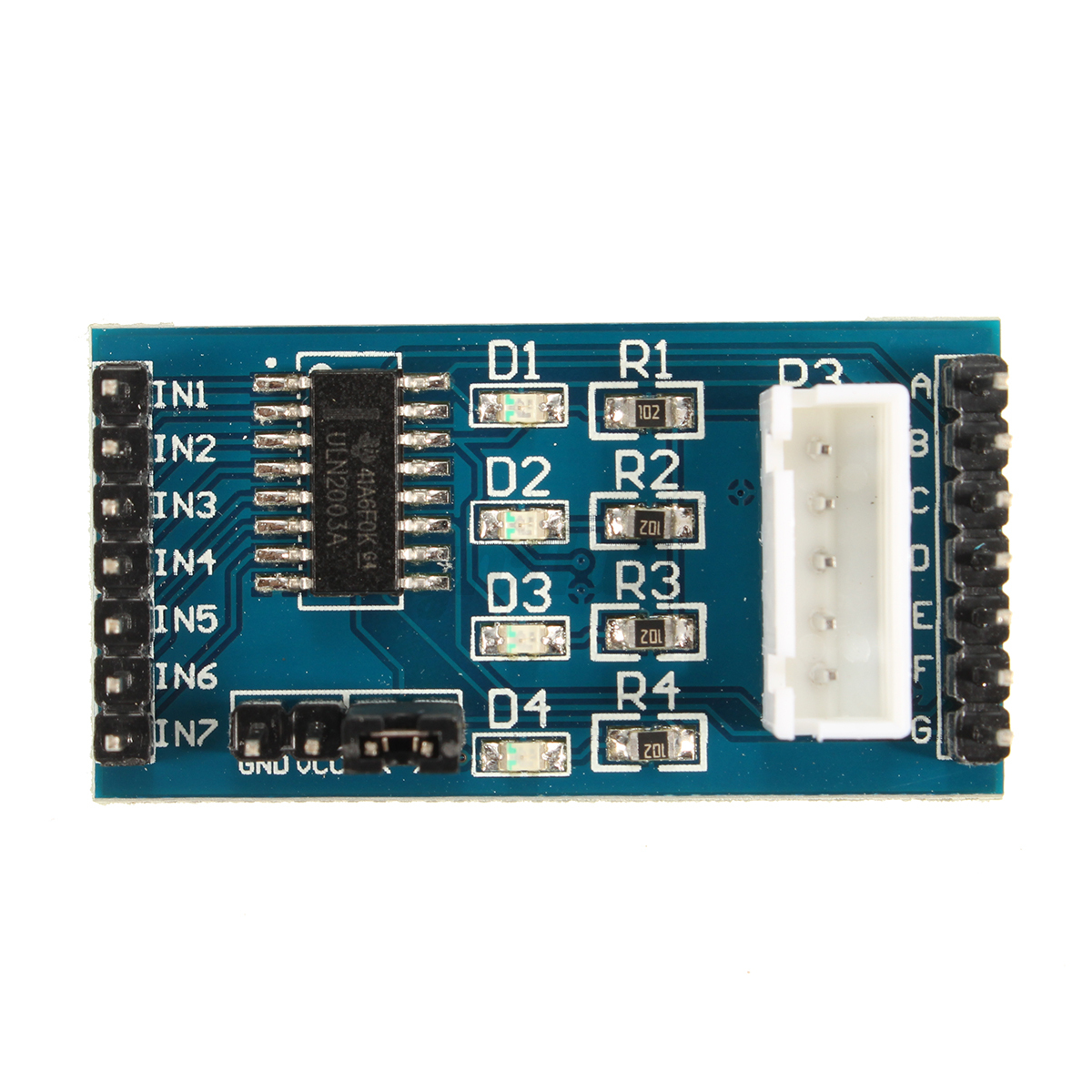 Uln driver module dc stepper motor test board for