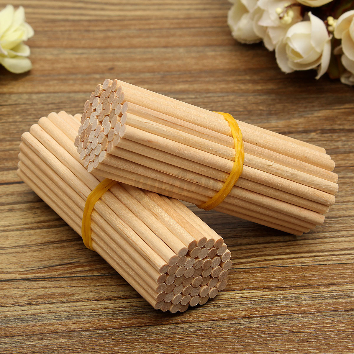100x round 80mm wooden lollipop lolly sticks cake dowels for Wooden dowels for crafts