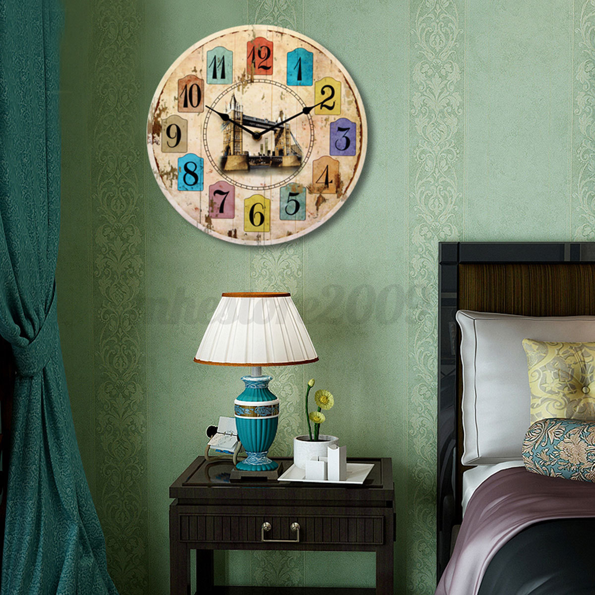 European style round wall clock home office living room decor reminiscence hq ebay - European inspired home decor photos ...