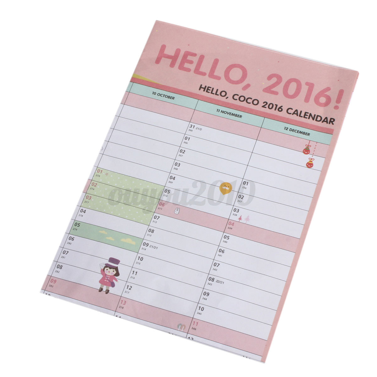 Hanging Planner Calendar : Year wall hanging calendar planner daily monthly