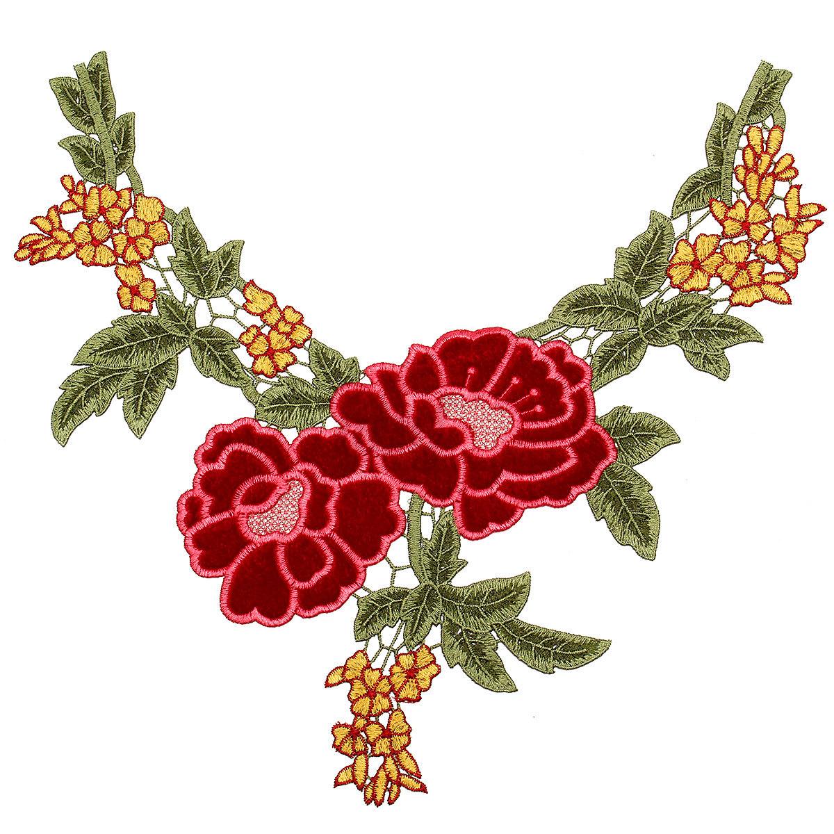 D flower floral guipure collar lace trim applique sewing