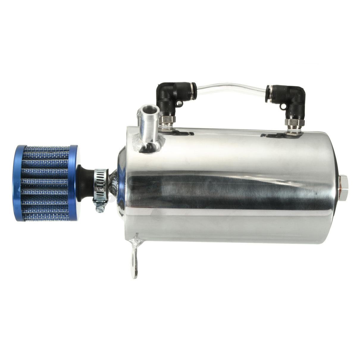 universal aluminum 0 5l engine oil catch tank can. Black Bedroom Furniture Sets. Home Design Ideas