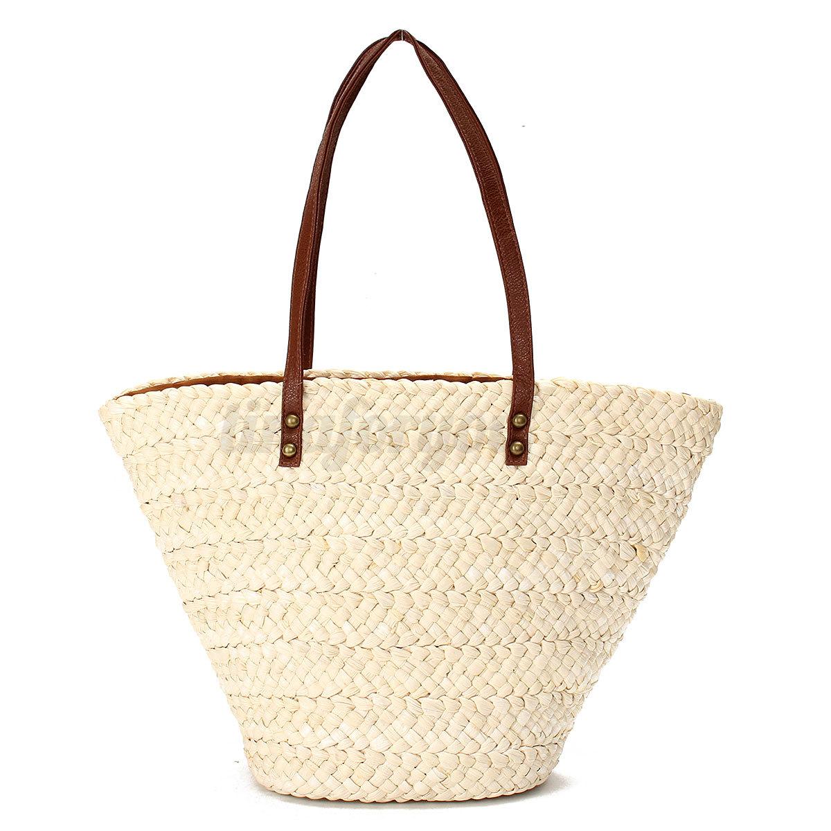 White Straw Shoulder Bag 39