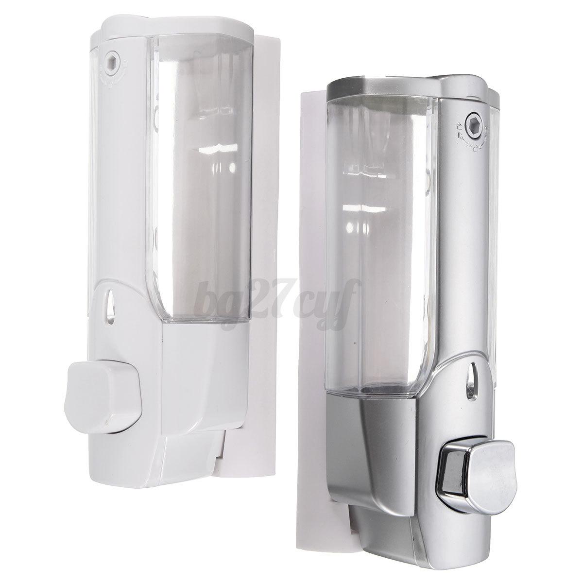 Shower Soap Dispenser ~ Wall mounted shampoo soap dispenser sanitizer bathroom