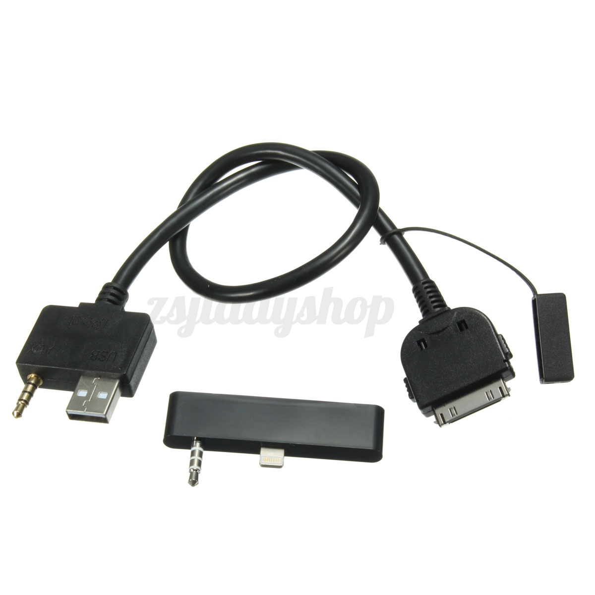 aux adapter cable usb for iphone 5 6 6s ipod kia. Black Bedroom Furniture Sets. Home Design Ideas