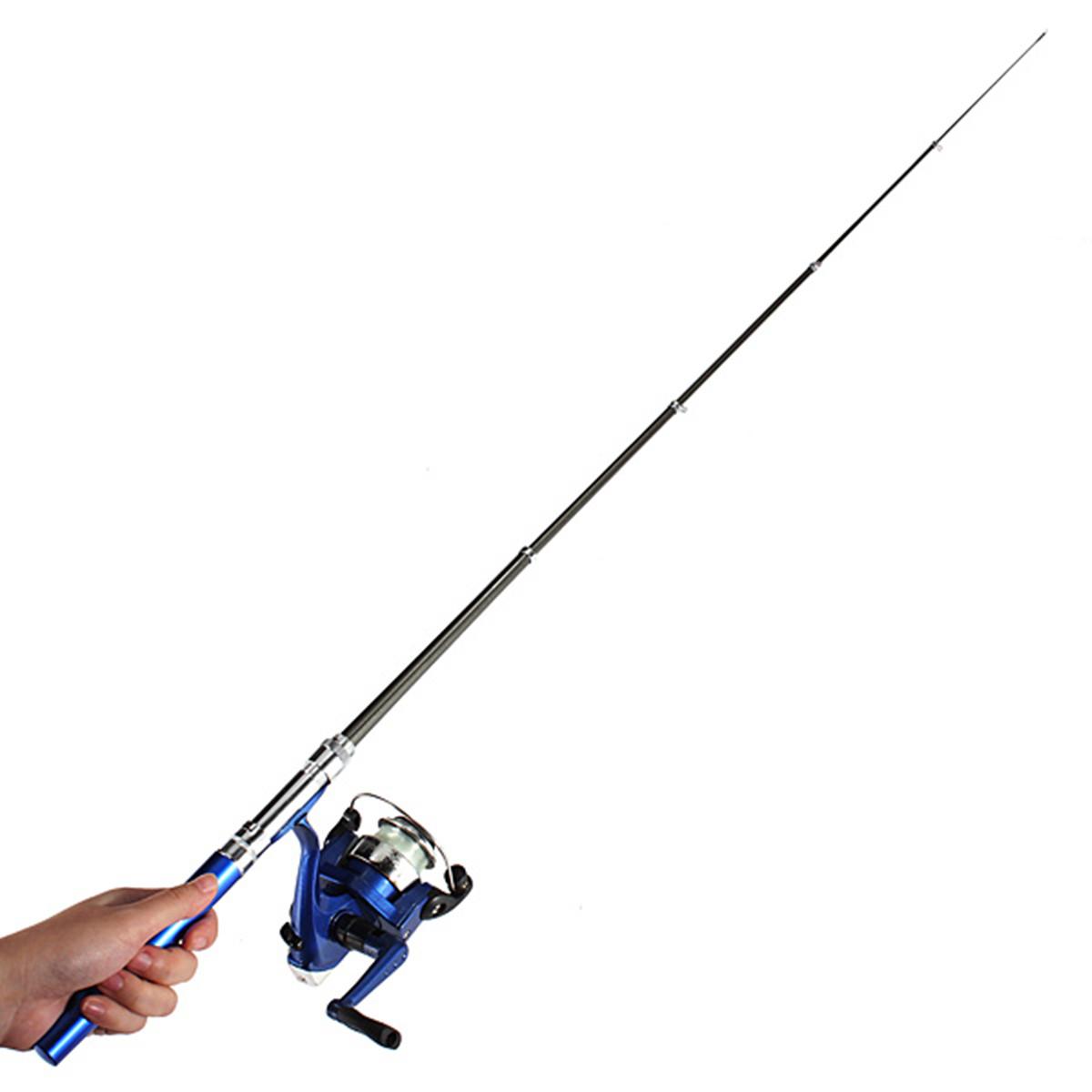 Portable mini aluminum alloy pocket pen shape fish fishing for Pocket fishing rod