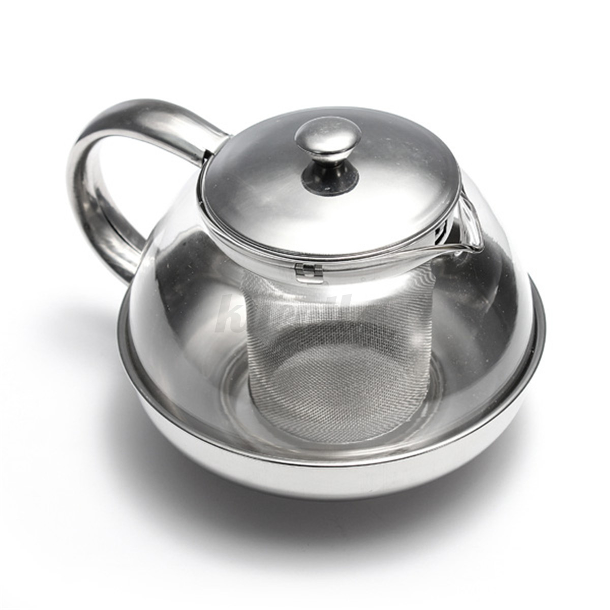 Stainless steel glass teapot tea pot herbal leaf