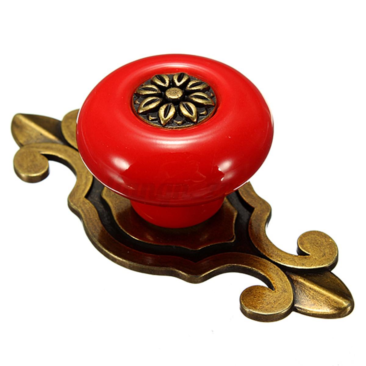 Boutons tiroir poign e de porte meuble armoire placard - Poignee de porte ceramique ...