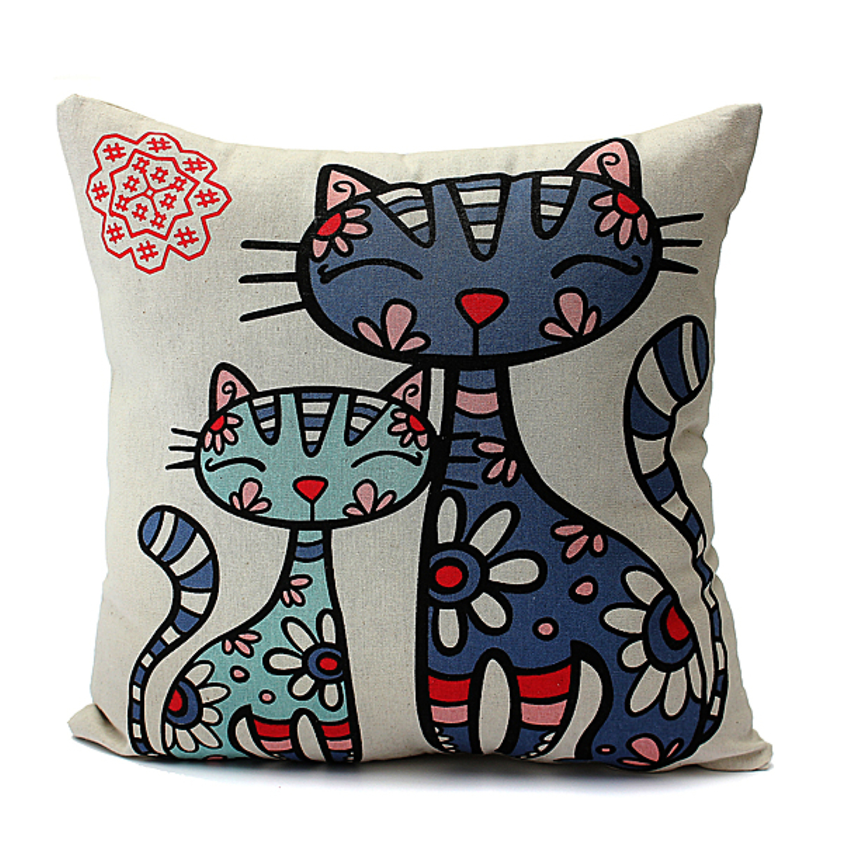 Chein chat animal housse de coussin canap taie d 39 oreiller - Housse coussin canape ...