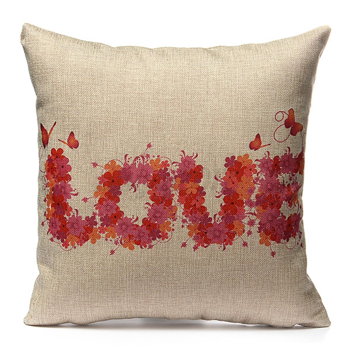 lover couple series cushion cover cotton linen pillow case c