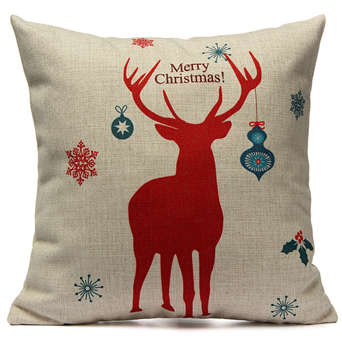 Christmas Cushion Cover Xmas Ambience Decorative Square Pillow Case Car Decor eBay