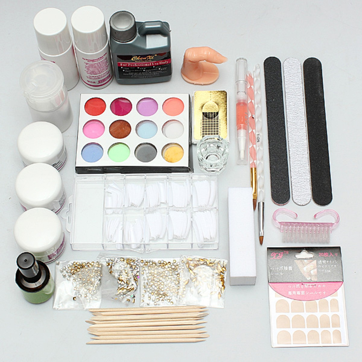 Kit paillette glitter ongle bijoux uv gel manucure for Decoration fenetre gel