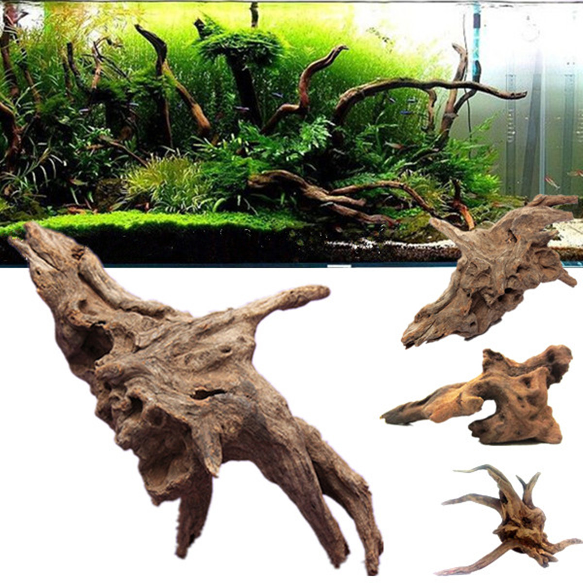 cuckoo root stump tree trunk driftwood for aquarium ornament fish tank decor ebay