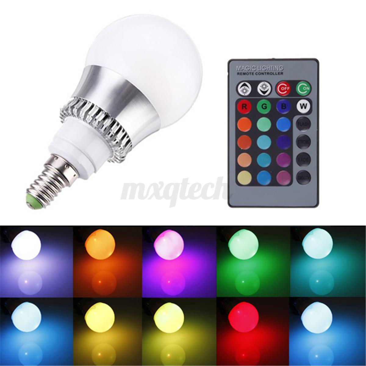 3w 9w 12w rgb e27 e14 b22 mr16 gu10 led light color changing lamp bulb remote ebay. Black Bedroom Furniture Sets. Home Design Ideas