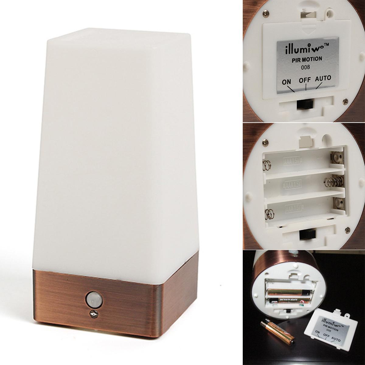 wireless motion sensor bedroom night light battery powered