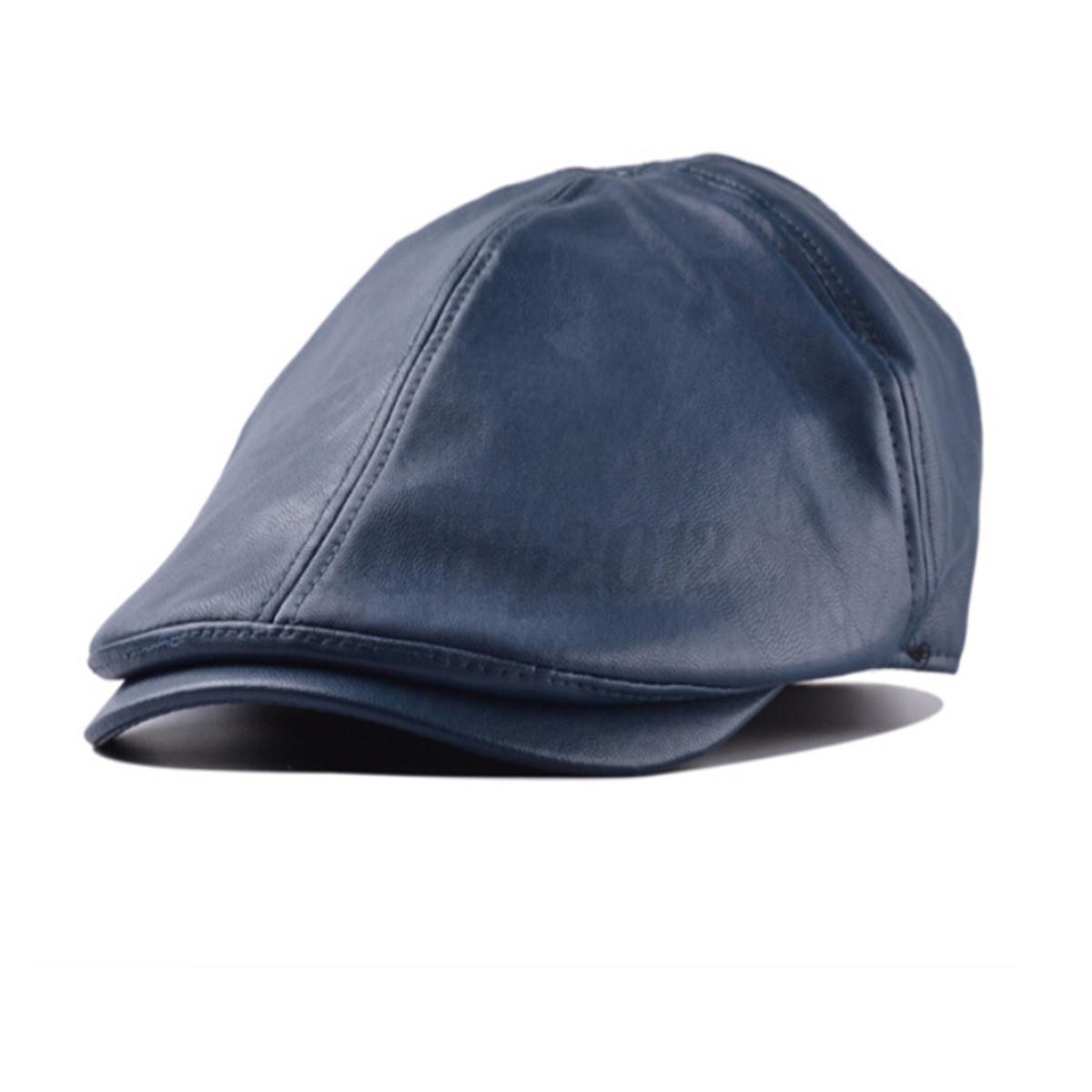 hommes femmes chapeau casquette cuir b ret conduit unisexe bonnet cap unisexe ebay. Black Bedroom Furniture Sets. Home Design Ideas