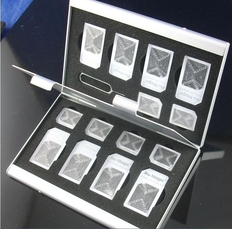 15in1 aluminum sim micro sim speicherkarte karten tasche. Black Bedroom Furniture Sets. Home Design Ideas