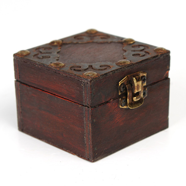 Chic Decorative Vintage 3Types Wooden Lock Jewelry Storage ...