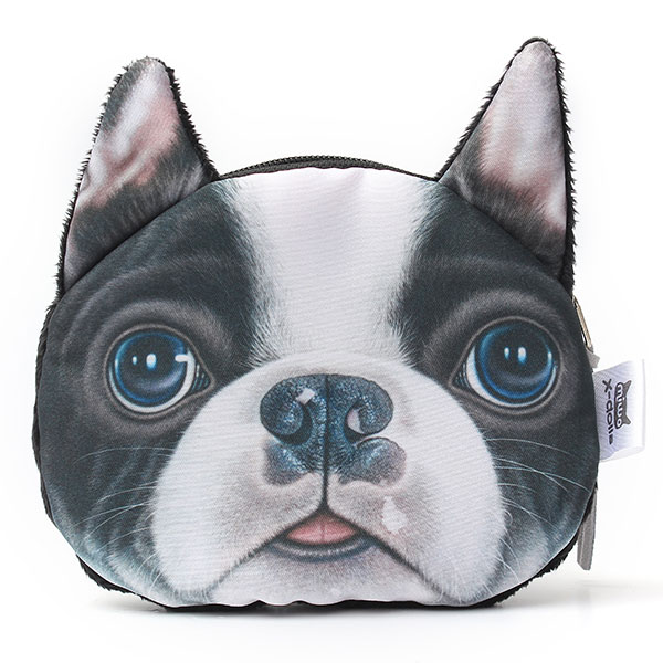 3D Dog Face Print Mini Coin Bag Wallet  Pocket Women Purse Eye Zip Pouch Handbag