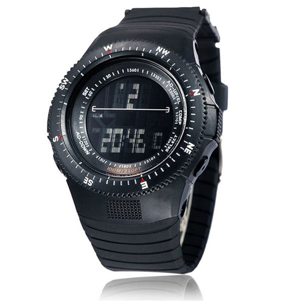 Men''s Military Practical Stopwatch Digital Light Silicone Wrist Watch Gift US
