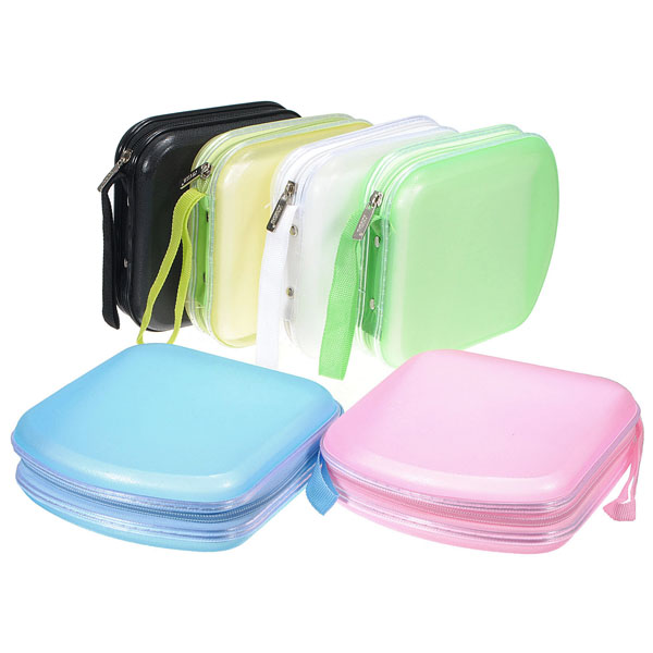 40 disc cd dvd vcd wallet album storage organizer bag case plastic box 5 colors ebay. Black Bedroom Furniture Sets. Home Design Ideas