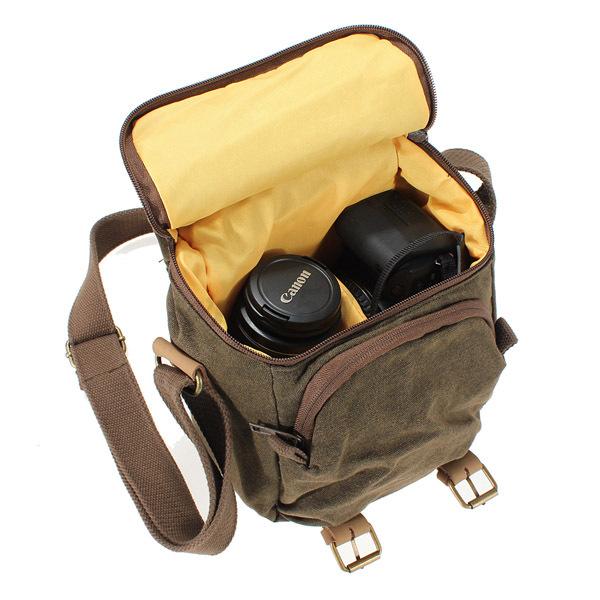Bolsa De Ombro Nikon : Impermeable lona c?mara mochila bolsa hombro bandolera por
