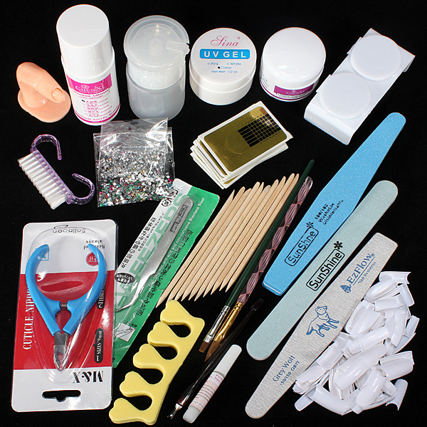 Nail Art Starter Kit: Nail Art Care Starter Kit Acrylic Powder Liquid File