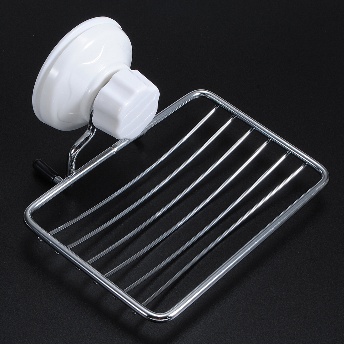 dish holder suction bathroom bath shower basket soap cup stainless steel wall ebay. Black Bedroom Furniture Sets. Home Design Ideas