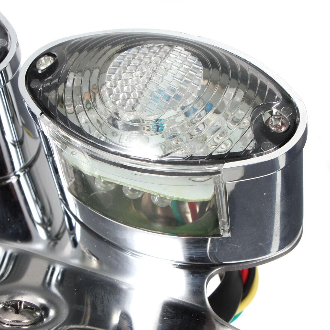 led feu arri re moto plaque lampe frein immatriculation bracket clignotant plate ebay. Black Bedroom Furniture Sets. Home Design Ideas