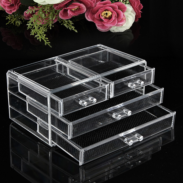 pr sentoir rangement transparent acrylique l vres brosse maquillage organisateur ebay. Black Bedroom Furniture Sets. Home Design Ideas