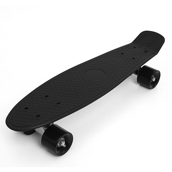 retro 22 cruiser style skateboard complete deck mini plastic skate board deck ebay. Black Bedroom Furniture Sets. Home Design Ideas